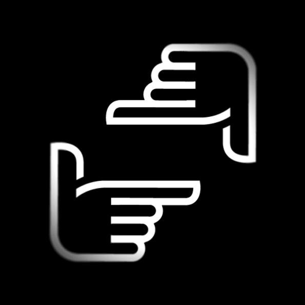 Das Logo symbolisiert meinen Blick durch die zum Bildrahmen geformten Hände